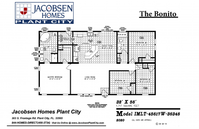 Jacobsen Mobile Home Floorplan Bonito 2020
